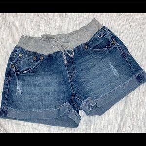 Justice denim short with knit waist girls size 12